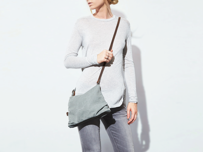 crossbody purse style (washed jade)
