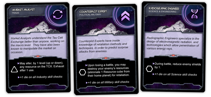 A few examples of the Advanced Specialists cards