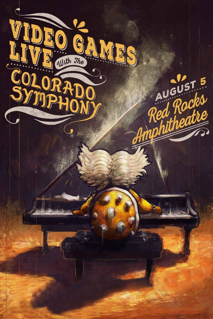Video Games Live at Red Rocks poster!