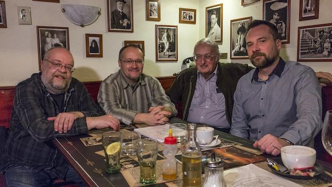 From left to right: Tibor Fonyódi, Sándor Szélesi, István Nemere and Csaba Királyházi