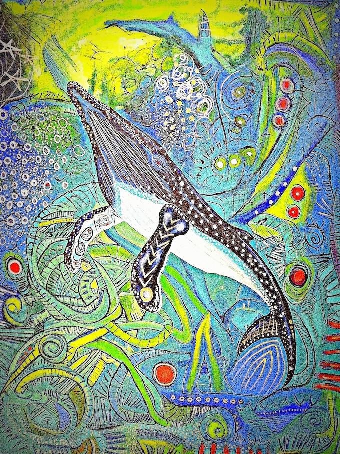 Alan Syliboy Whale Print