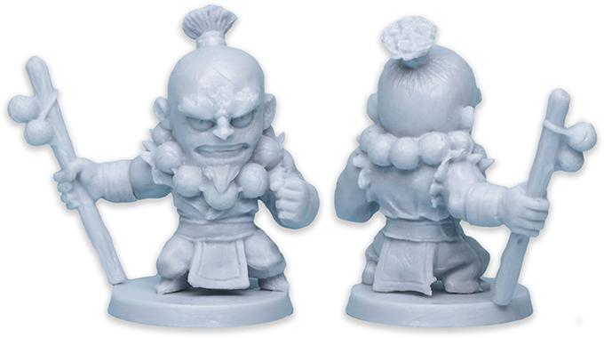 Quan's production plastic figure.