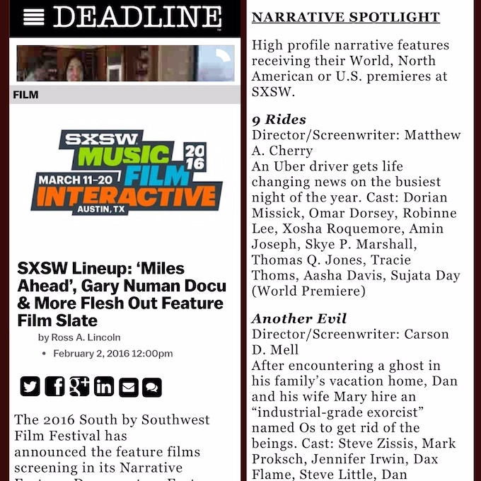9 Rides - SXSW Film Festival Official Selection by Matthew A