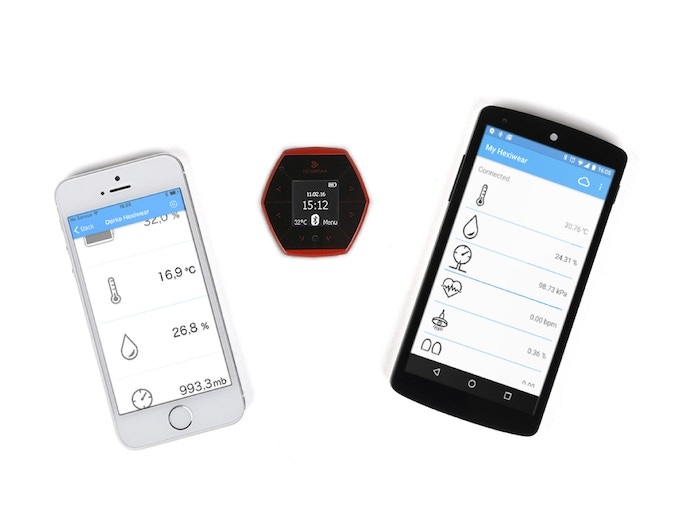 Android and iOS apps for Hexiwear