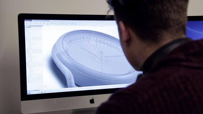 Industrial Designer Umberto Onza at work