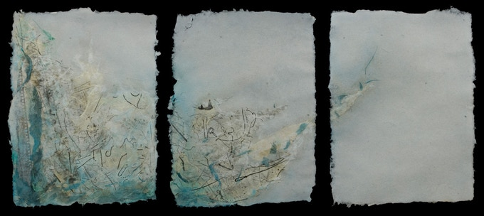 $500 option #2) Original abstract work on handmade paper (sample)