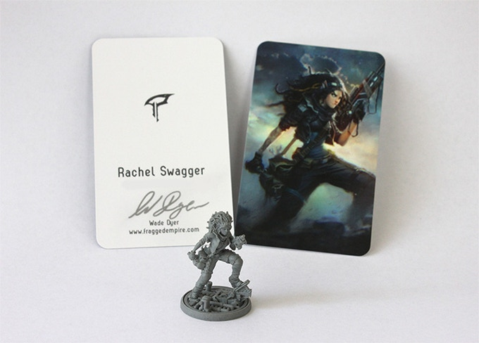 Each mini comes with their own hand signed art card.