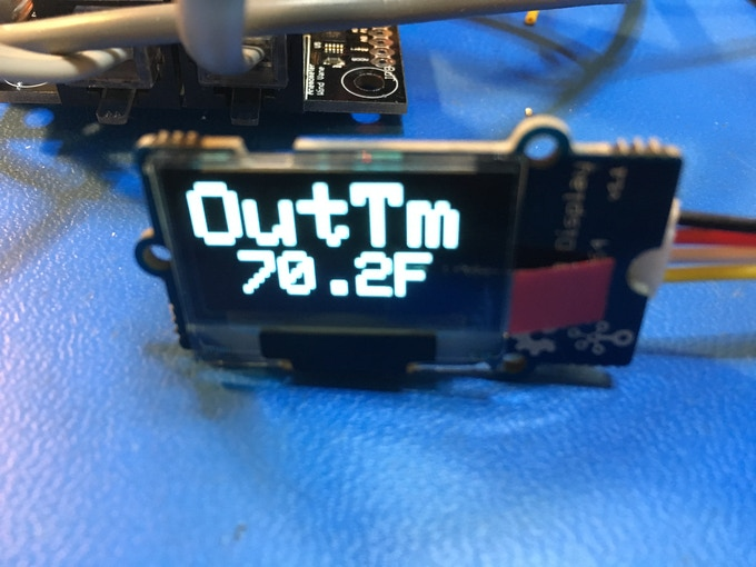 Custom OLED Display for OurWeather