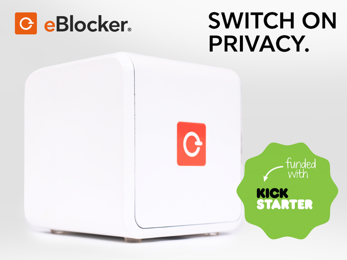 eBlocker is a smart device that anonymizes your online behavior. It stops all trackers, blocks all ads and protects your kids online.