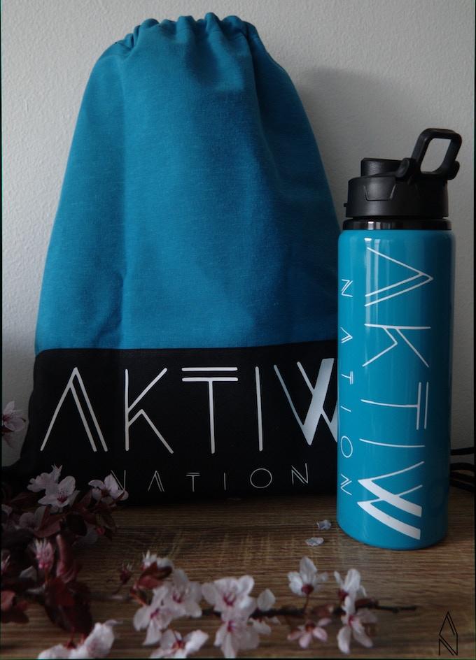 AktiwNation tote bag and AktiwNation water bottle