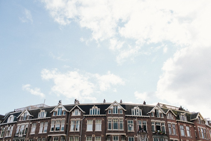 Amsterdam by on a hazy morning