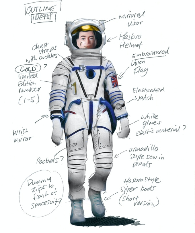 One of only 5 Limited edition British Astronauts - design notes