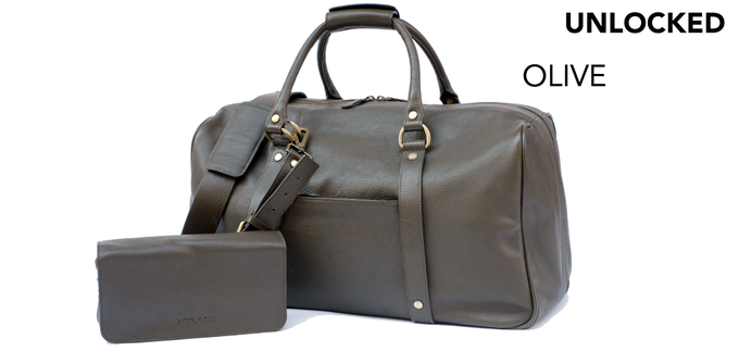 The Olive Duffle Suitcase is now available for pre-order!