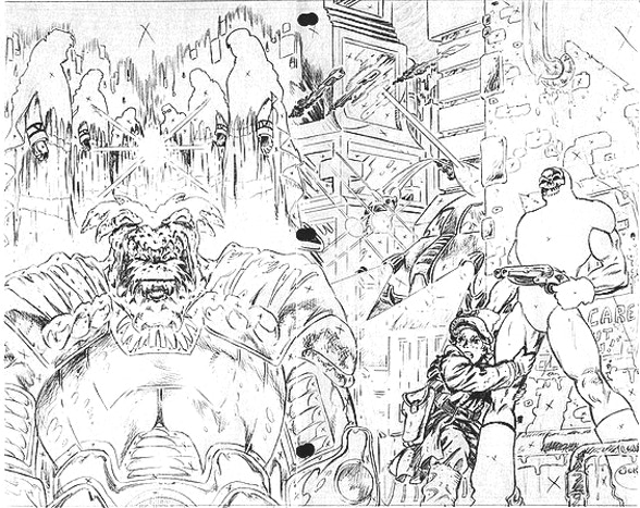 The Incredible Death's Dark Angel KS Exclusive Wraparound Cover in Progress - You Are Making it Possible!