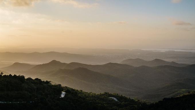 View from the Escambray Mountains, Cuba. By Asori Soto.