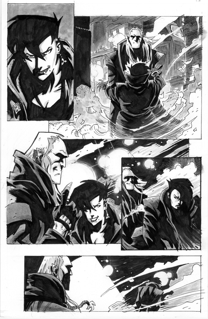 Sample Original Art Page from EAGLE