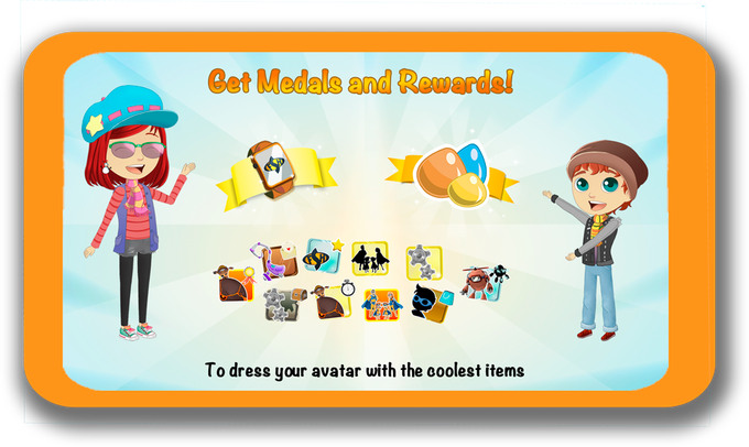 Try to achieve all Medals and Badges challenges located at Sitting-room's Bookcase!
