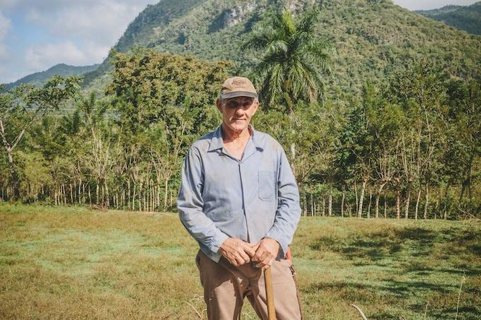 Gilberto, a farmer in the Escambray Mountains, Cuba. By Asori Soto.