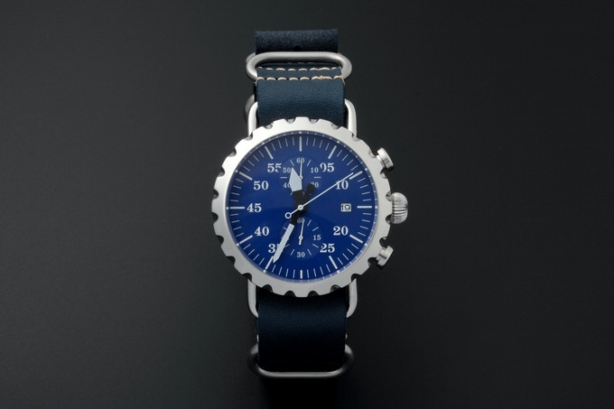 New $15k stretch goal - high polish finish case with royal blue dial.