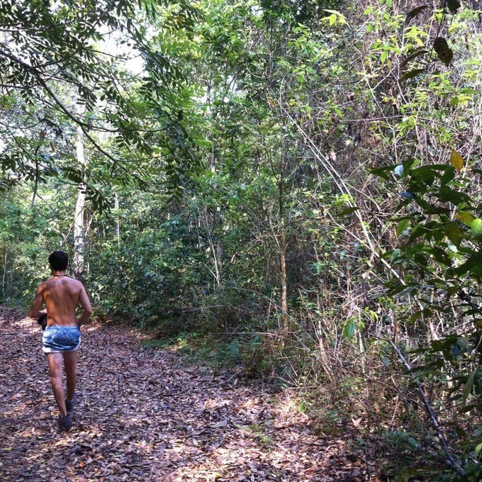 Hiking through the hot and humid Guatemalan Jungle