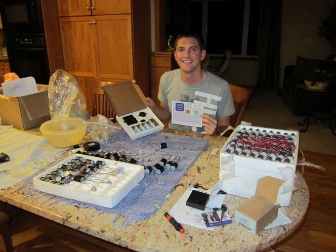 Producing the very first Squishy Circuit Kit in late 2011