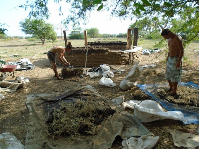 Helping build an eco lodge in Nicaragua