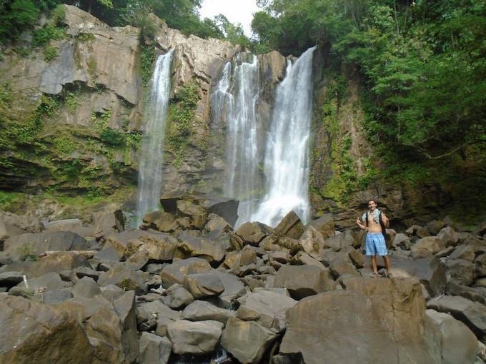 A beautiful waterfall in Costa Rica