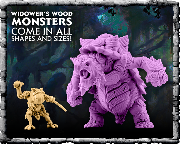 Widower's Wood monsters come in all shapes in sizes!