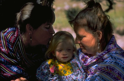 Sharon, Pamela and 16-month-old Zenia