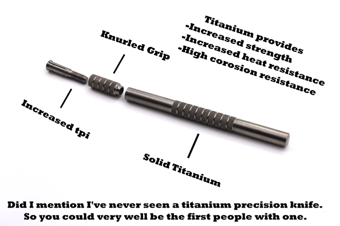 Titanium Hobby Knife By Nordevx Kickstarter