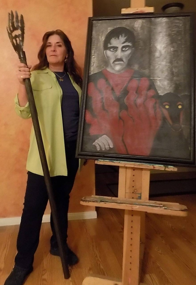 Perks available include a replica Torgo Staff or an 11x14 print of Jackey's recreation of her dad's iconic painting. Both will be featured in MANOS Returns.