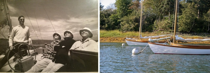 Dave's Uncle, Grandfather, and Dad (left to right) enjoying a day on the water in Gardiners Bay, NY.