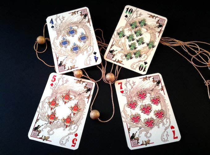 diamond deck numbered cards sample