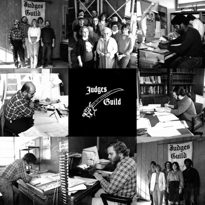 We are Judges Guild: vintage photos of the company's staff hard at work.