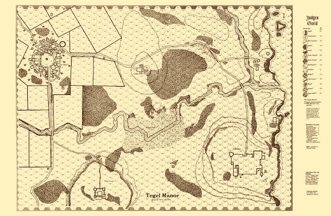 Another map from Tegel Manor