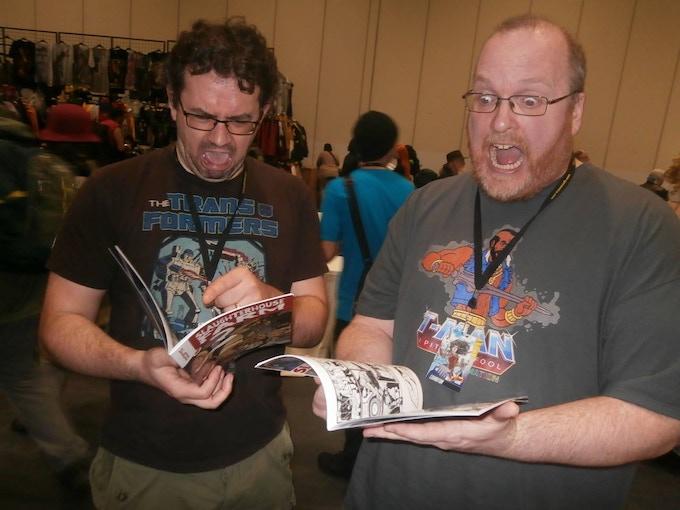Hellbound Media Editor Matt Warner (right), with Slaughterhouse Farm co-writer A J Ballard