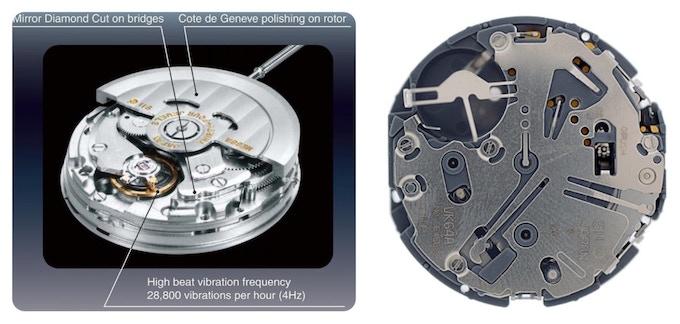 (Left) NE88 Automatic and (Right) VK64 Meca-Quartz