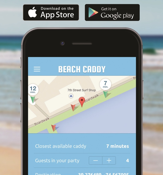 Beach Caddy: World's First App and Service for Beach Goers