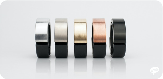 From left to right: Aluminium, Titanium, Brass, Copper, Black