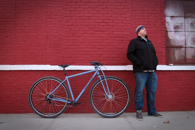 "Reland Boyle (6'8"") with his custom DirtySixer in Brooklyn."