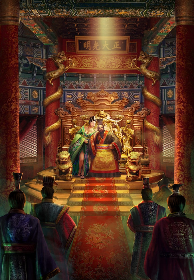 The Regent of Dulimbai is Attended by His Ministers
