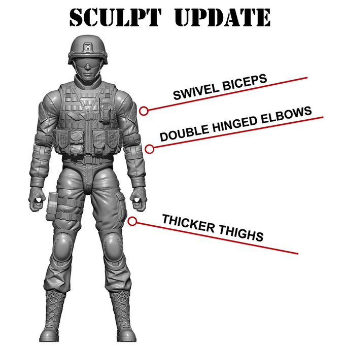 This is the updated sculpt that all Soldier and SWAT figures will use