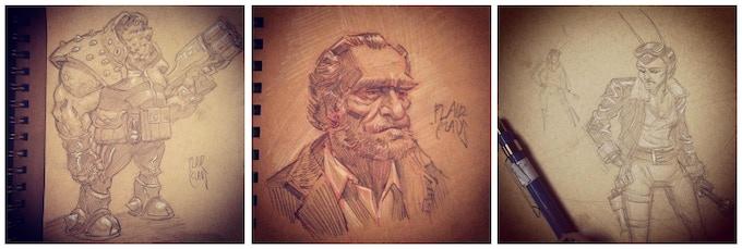 Pencil sketch reward by Plaid Klaus