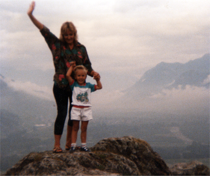 Me and mum on top of the world
