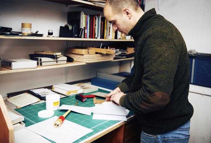 William in his amazing workshop