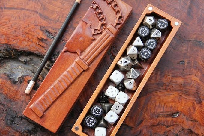 "Katalox banded with Jatoba, ""Flail"" sculpt, ""Interior E""."