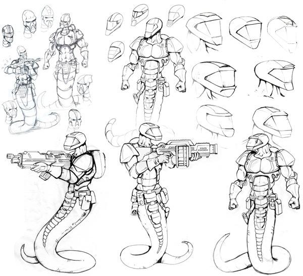 Early Astagar Development Sketches