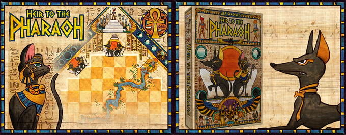 You score points by pointing controlled Monuments at the Pyramid (and other monuments), by collecting sets of Monument Cards, marking Suns on the board, and helping to build the Pharaoh's Pyramid.