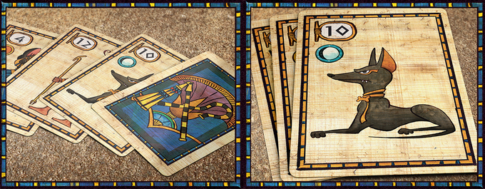 Bidding: During the Bidding Phase, players simultaneously make an offering to each God at the Palace. But be careful! Whatever cards you use to bid are given to your opponent for their next round, so your strengths will be used against you!