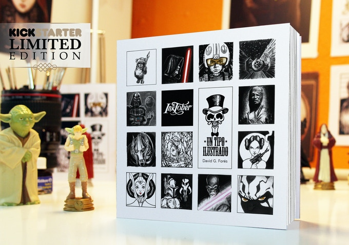 Mockup of the 80-pages art book 'The Ink Harvest'